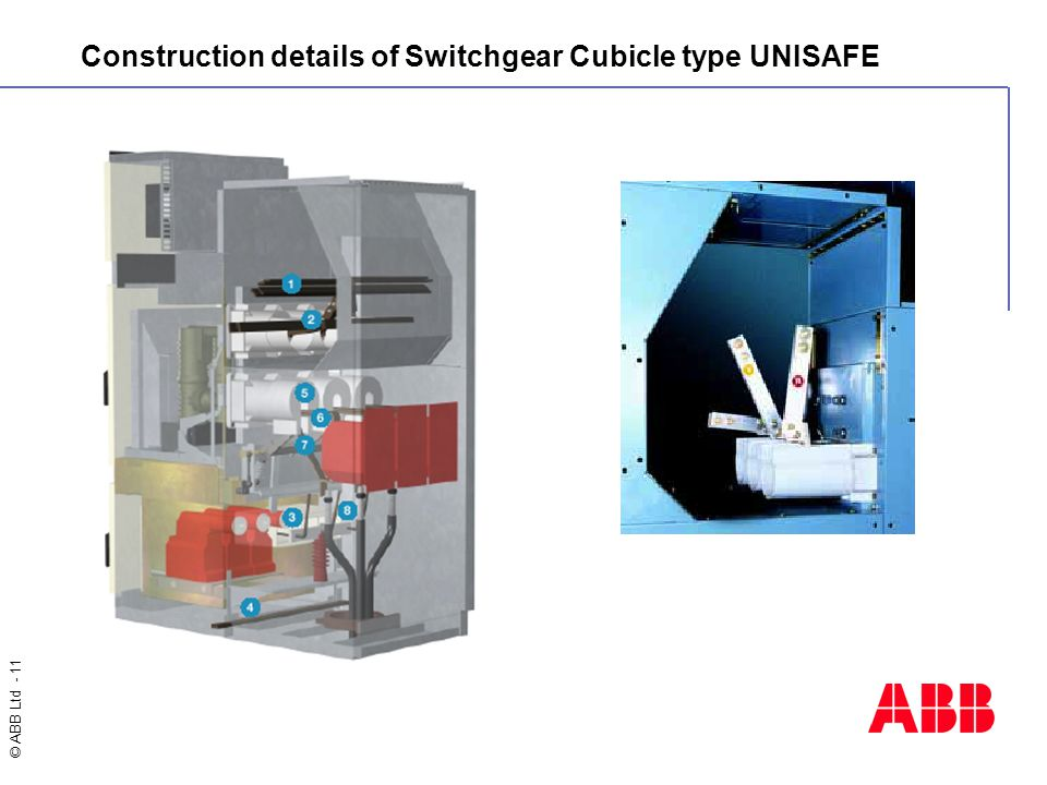 Construction details of Switchgear Cubicle type UNISAFE