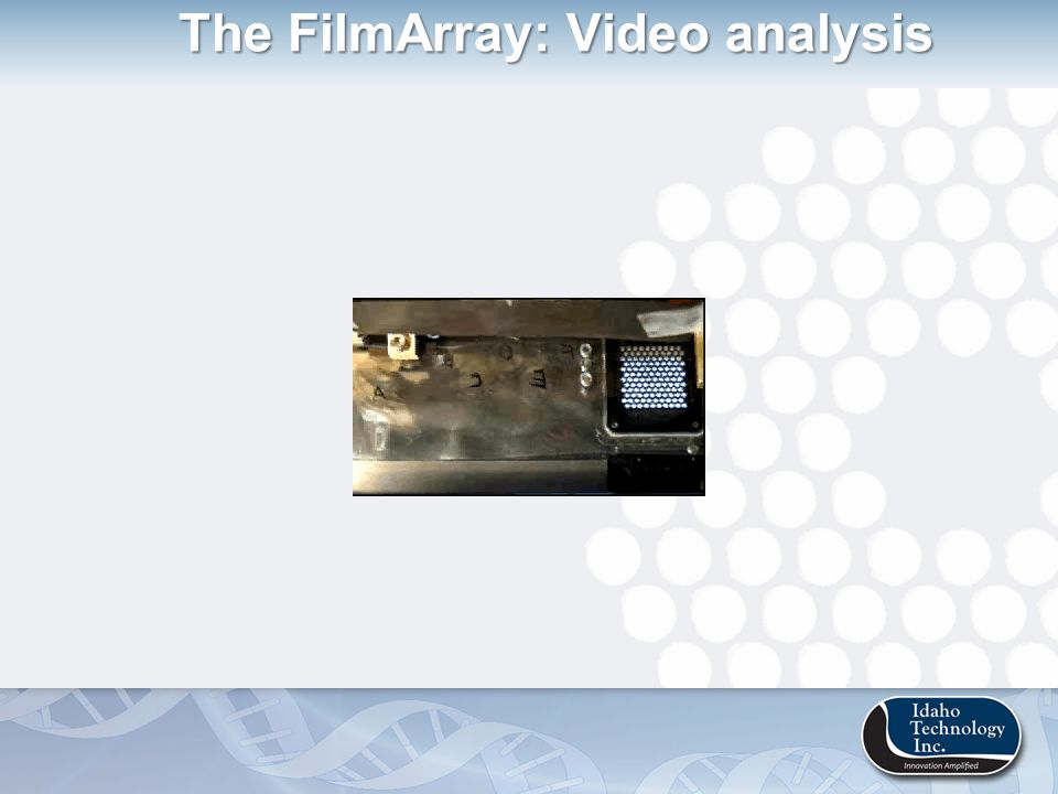 The FilmArray: Video analysis