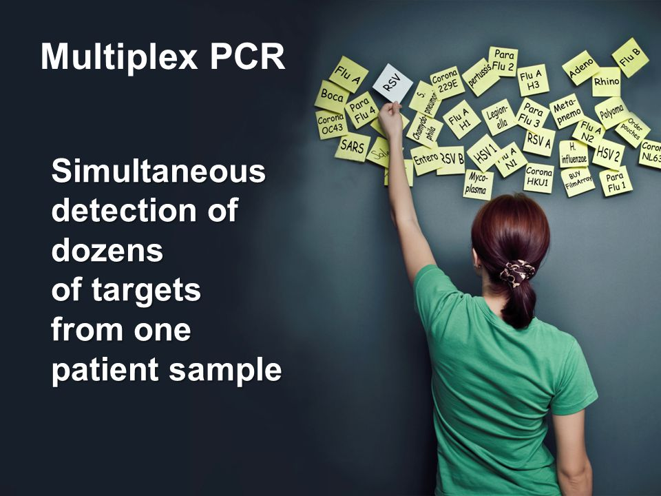 Multiplex PCR Simultaneous detection of dozens of targets from one