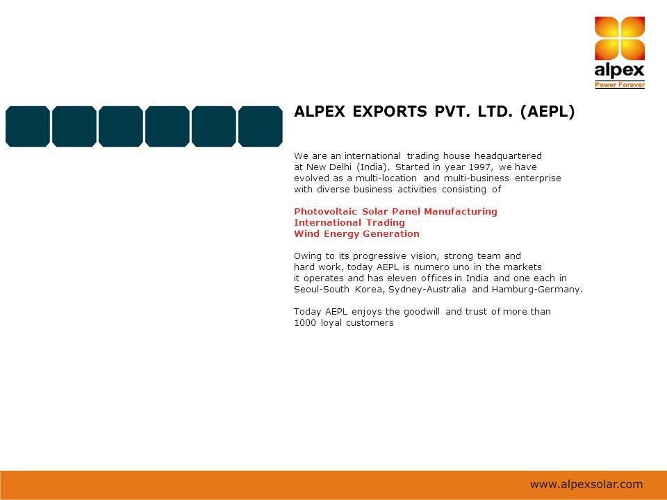 ALPEX EXPORTS PVT. LTD. (AEPL)
