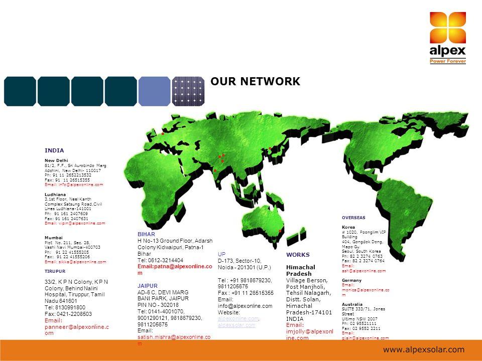 OUR NETWORK INDIA. New Delhi. 81/2, F.F., Sri Aurobindo Marg. Adchini, New Delhi- 110017. Ph: 91 11 2652213532.