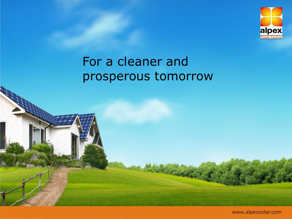 For a cleaner and prosperous tomorrow