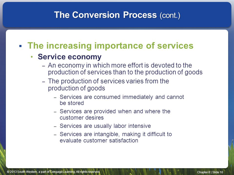 The Conversion Process (cont.)