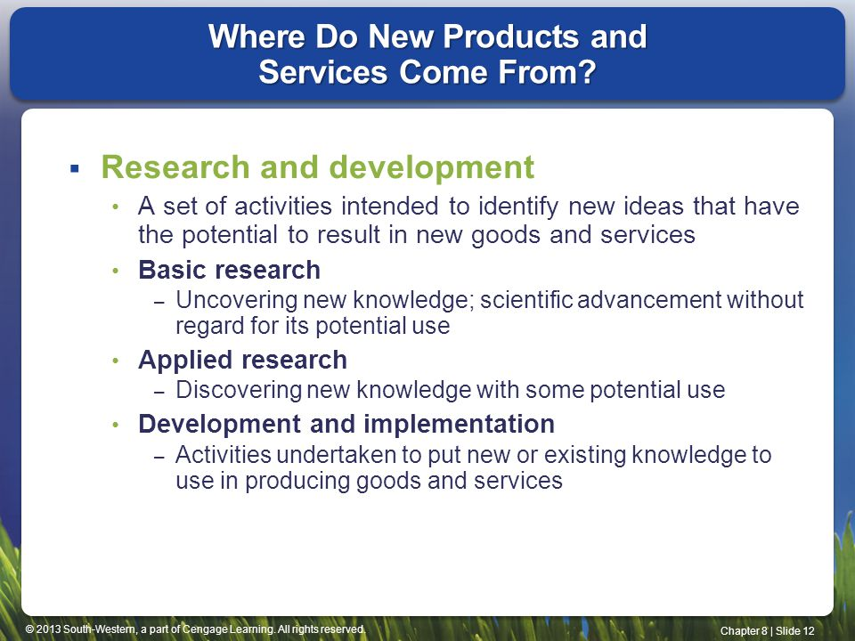 Where Do New Products and Services Come From