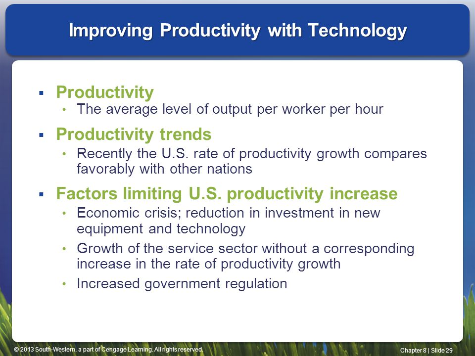 Improving Productivity with Technology
