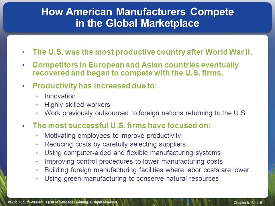 How American Manufacturers Compete in the Global Marketplace