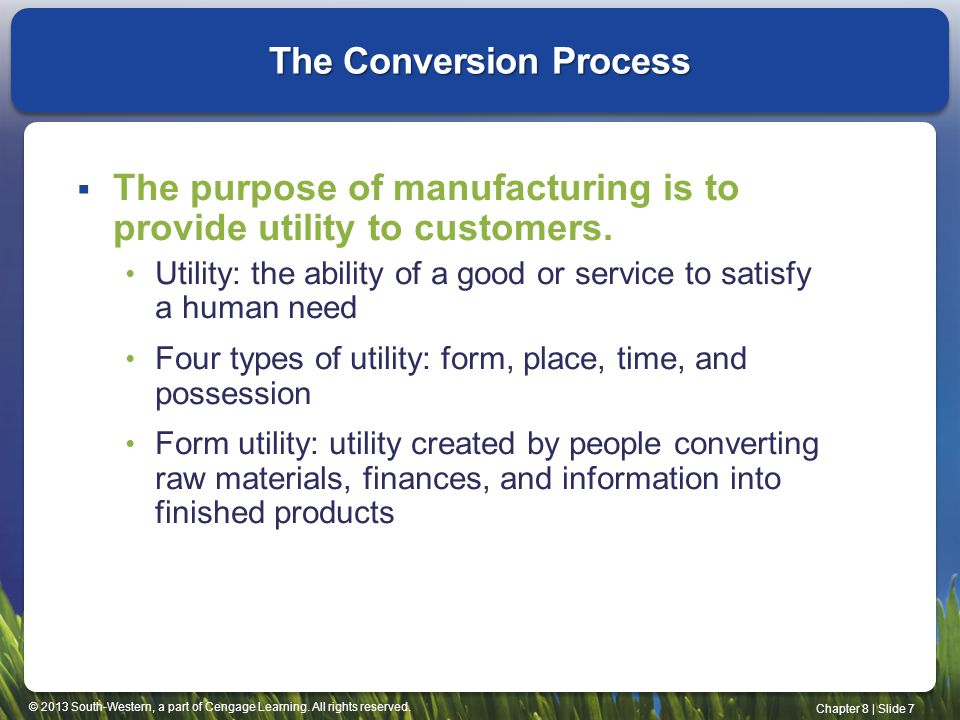 The Conversion Process
