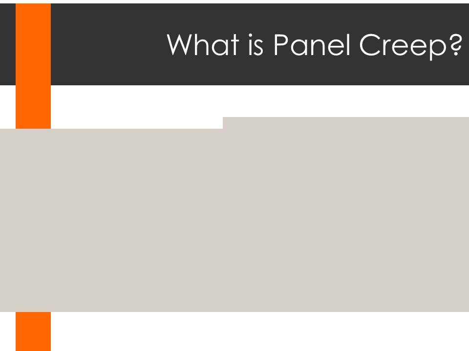 What is Panel Creep