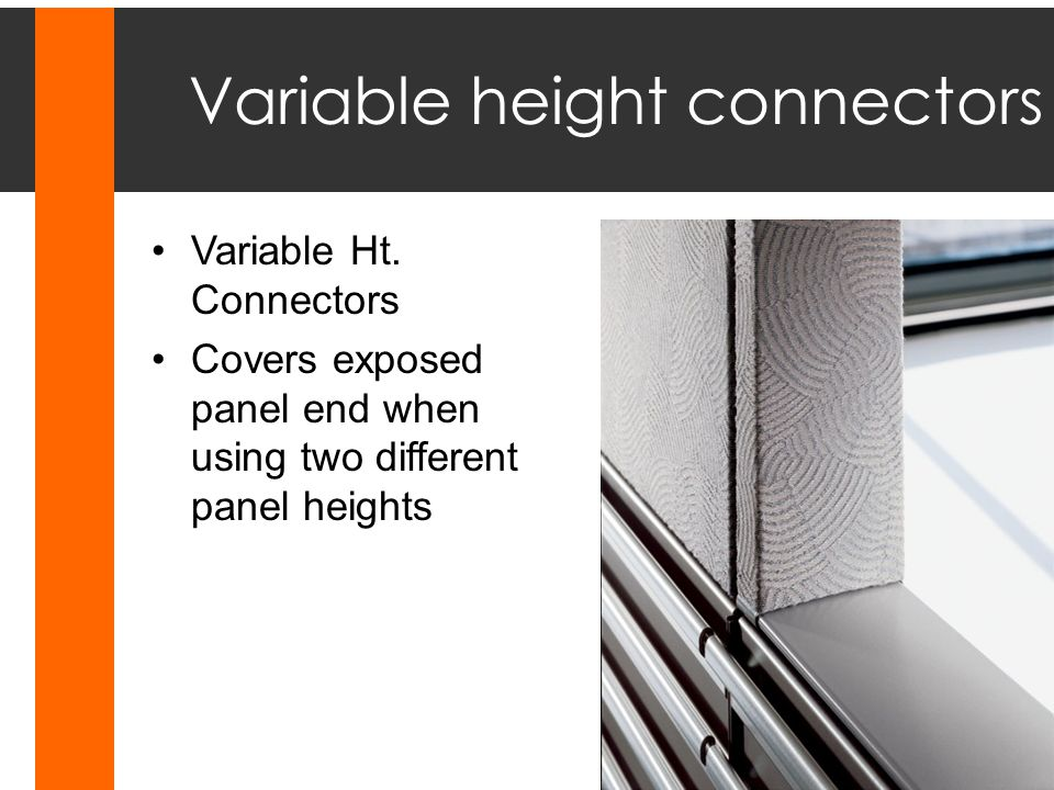 Variable height connectors