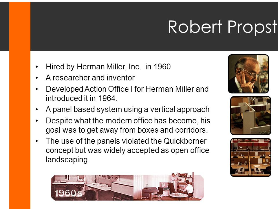 Robert Propst Hired by Herman Miller, Inc. in 1960