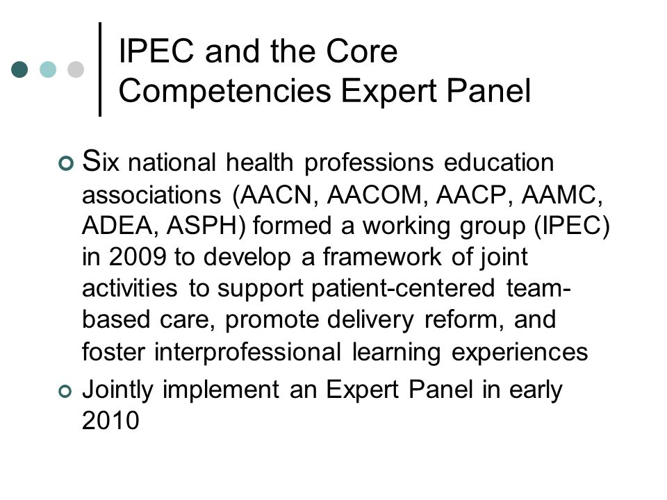 IPEC and the Core Competencies Expert Panel