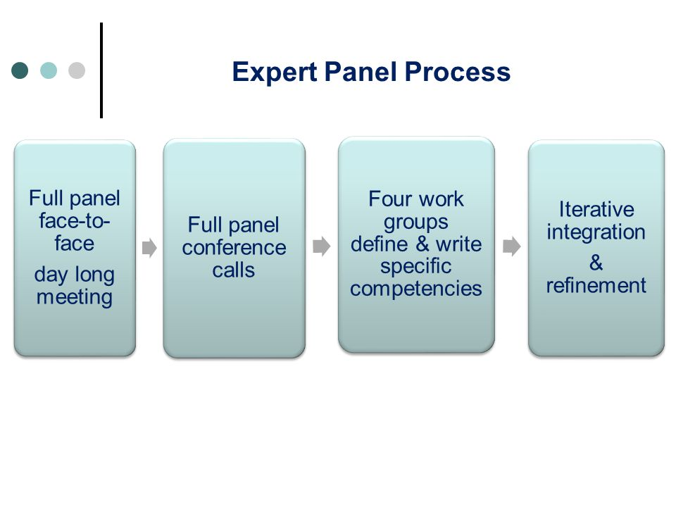 Expert Panel Process Full panel face-to-face