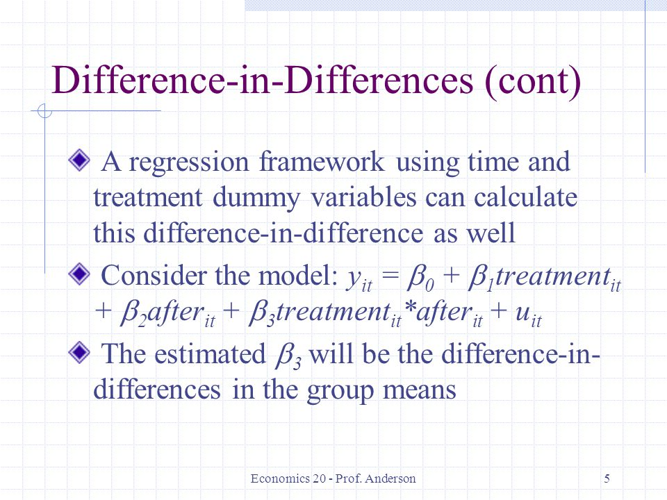 Difference-in-Differences (cont)