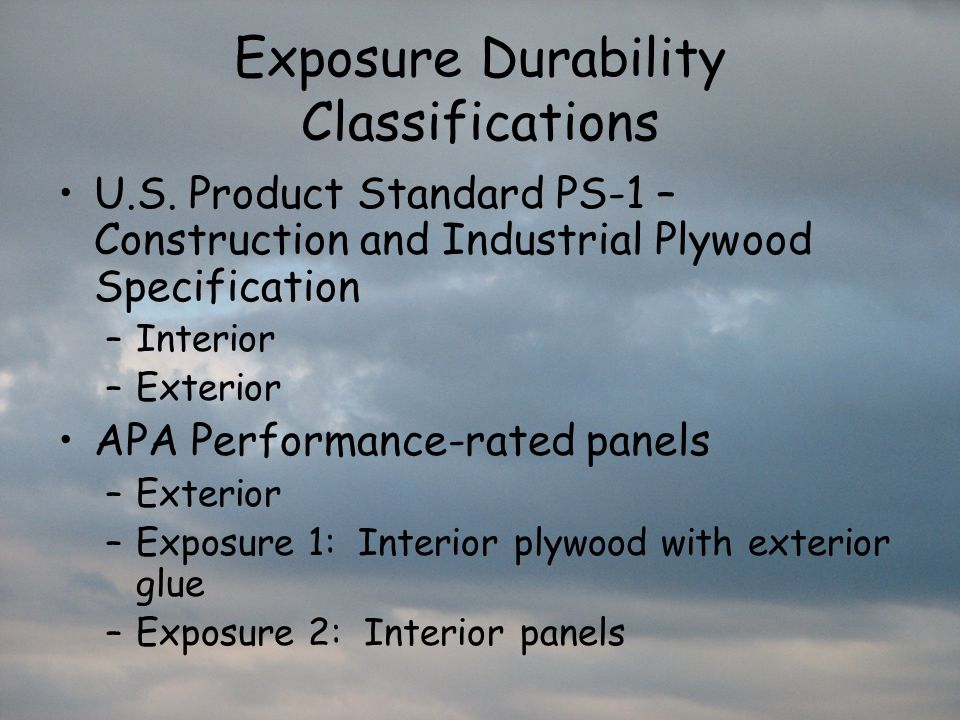 Exposure Durability Classifications