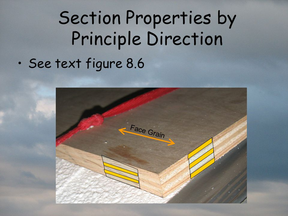 Section Properties by Principle Direction