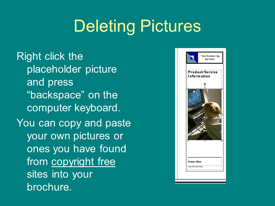 Deleting Pictures