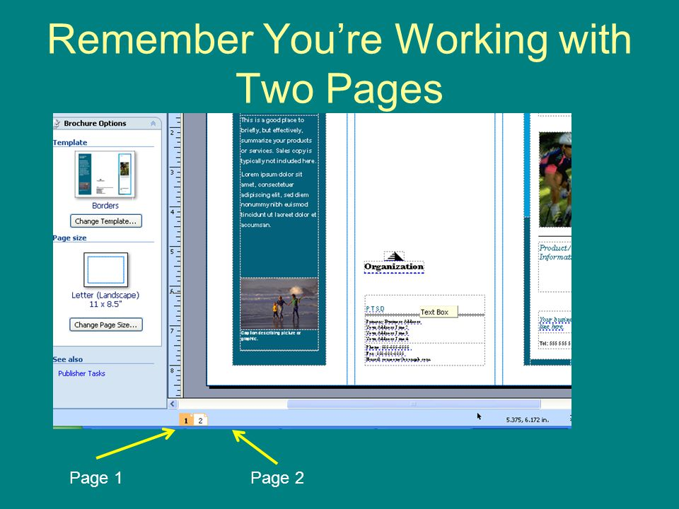 Remember You're Working with Two Pages