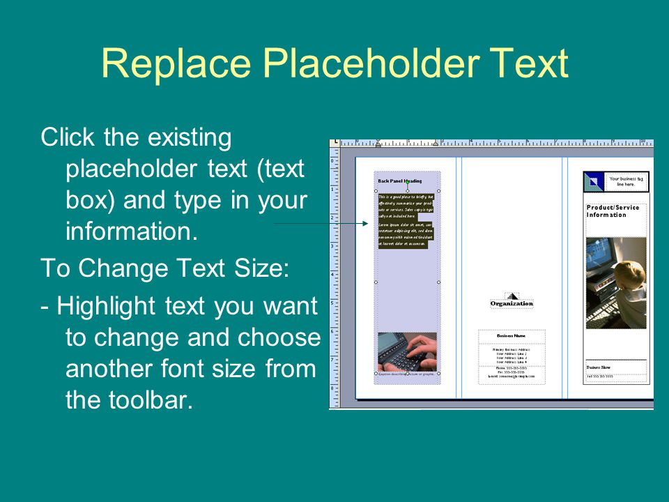 Replace Placeholder Text