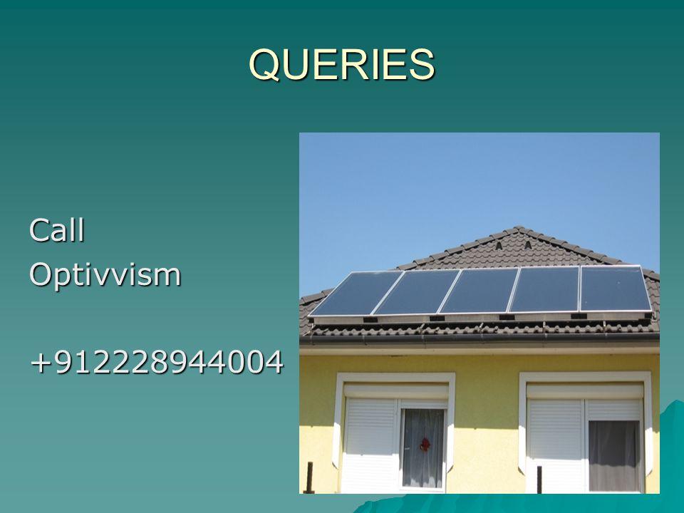 QUERIES Call Optivvism +912228944004