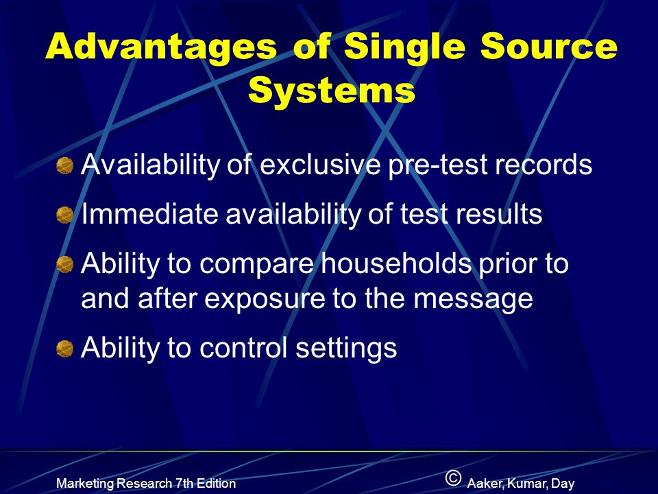 Advantages of Single Source Systems