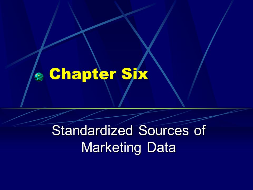 Standardized Sources of Marketing Data