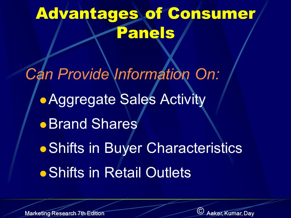 Advantages of Consumer Panels
