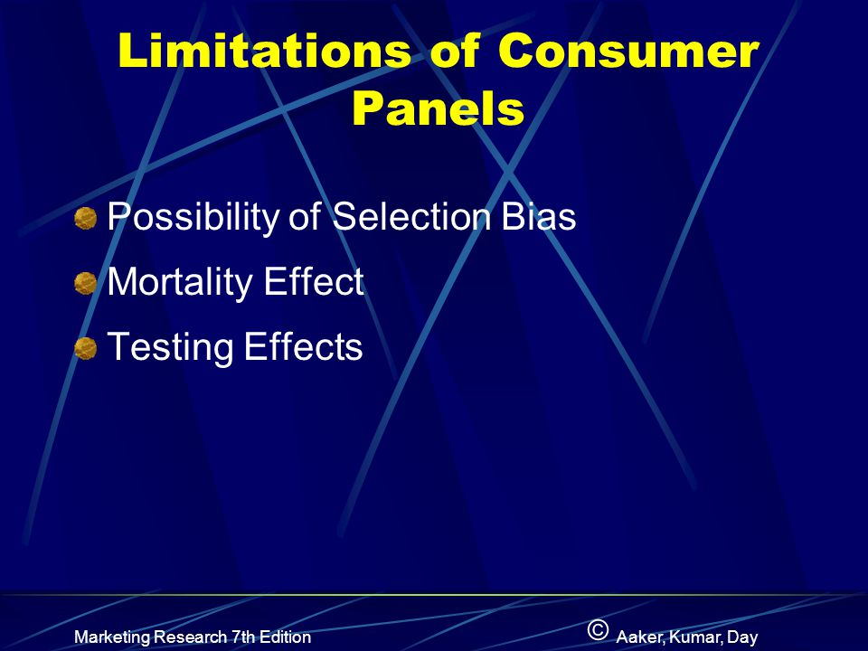 Limitations of Consumer Panels