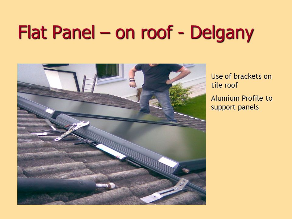 Flat Panel – on roof - Delgany