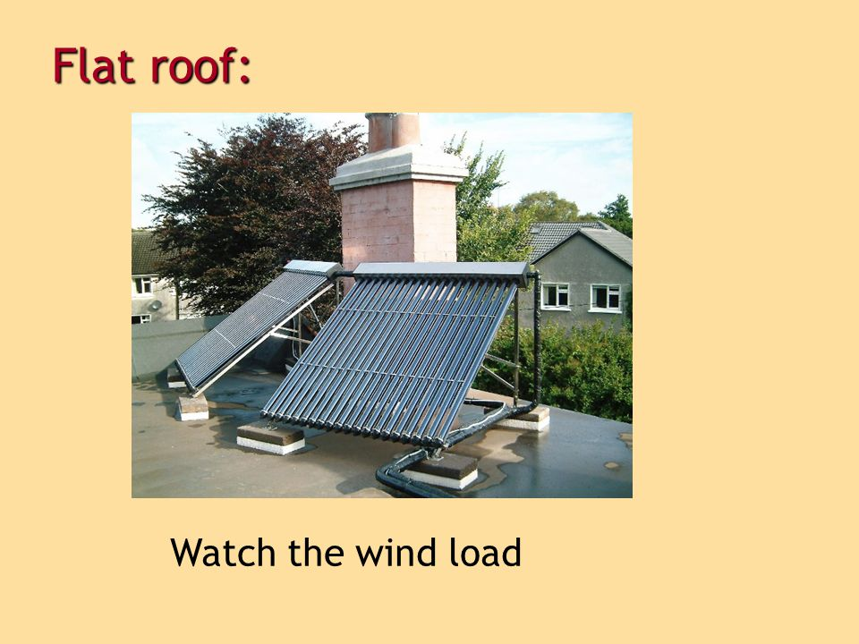 Flat roof: Watch the wind load 18