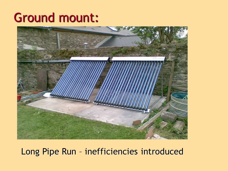 Ground mount: Long Pipe Run – inefficiencies introduced 19