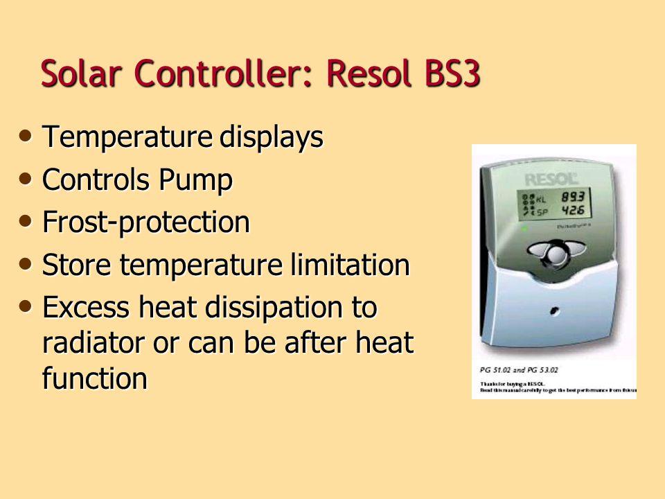 Solar Controller: Resol BS3
