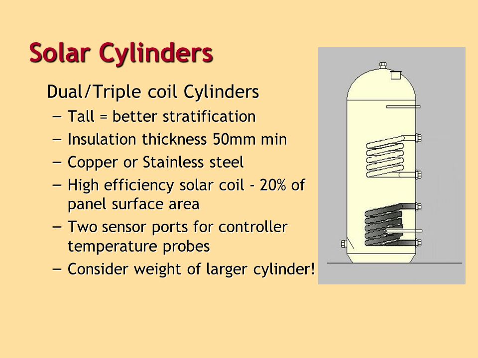 Solar Cylinders Dual/Triple coil Cylinders