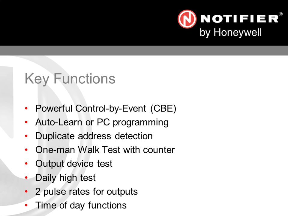 Key Functions Powerful Control-by-Event (CBE)