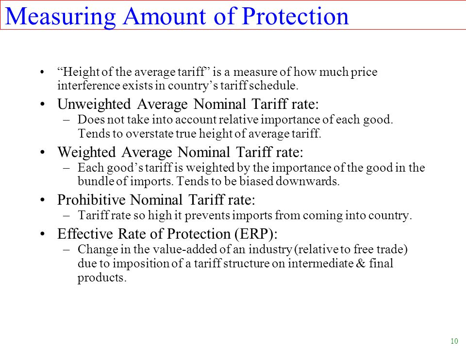 Measuring Amount of Protection