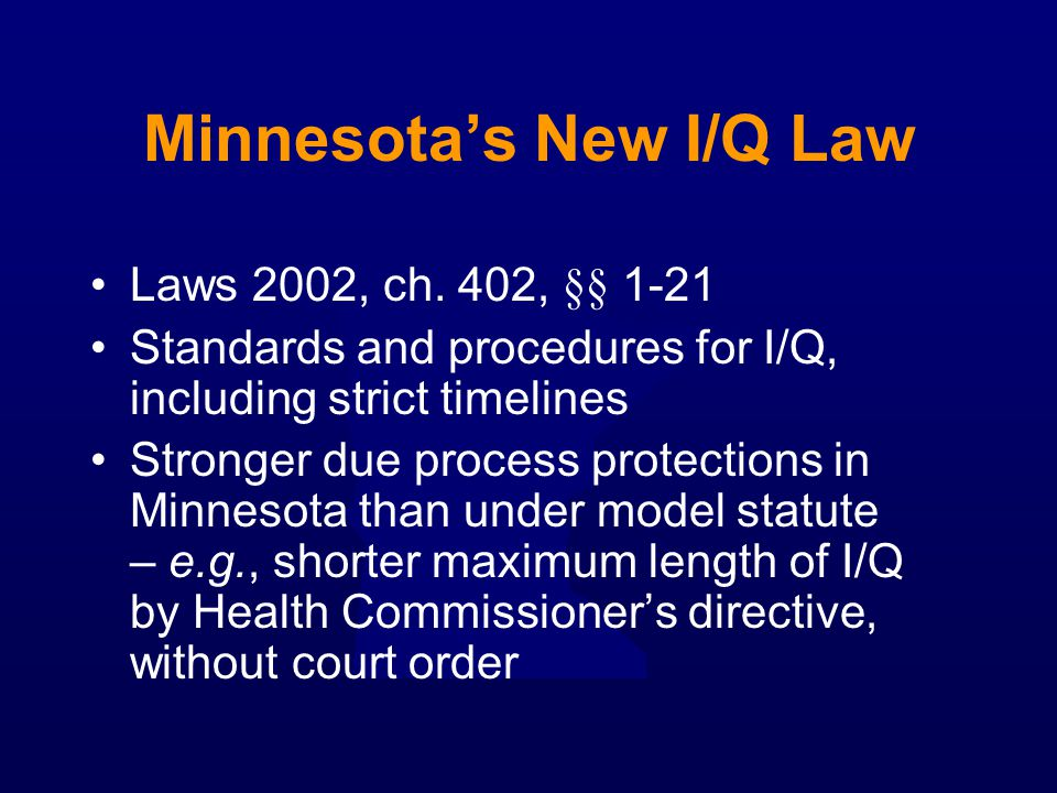 Minnesota's New I/Q Law