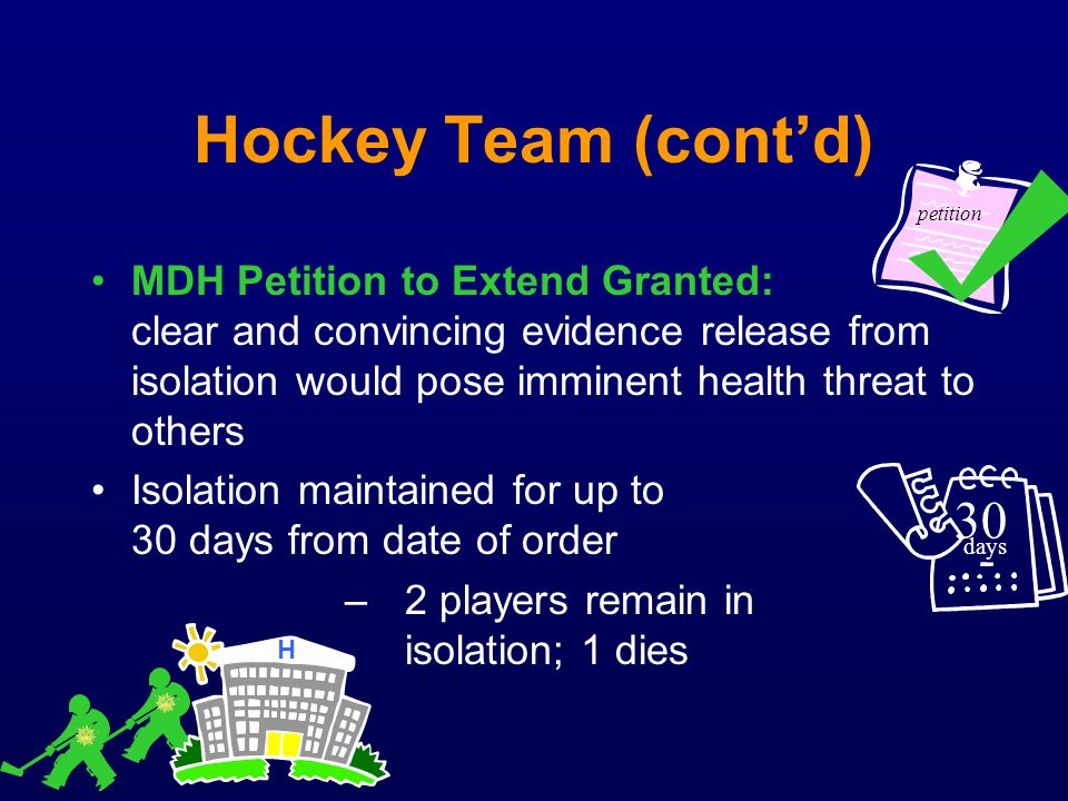 Hockey Team (cont'd) petition.