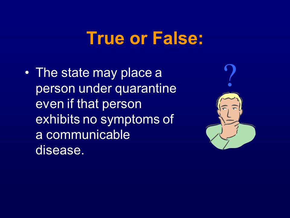 True or False: .