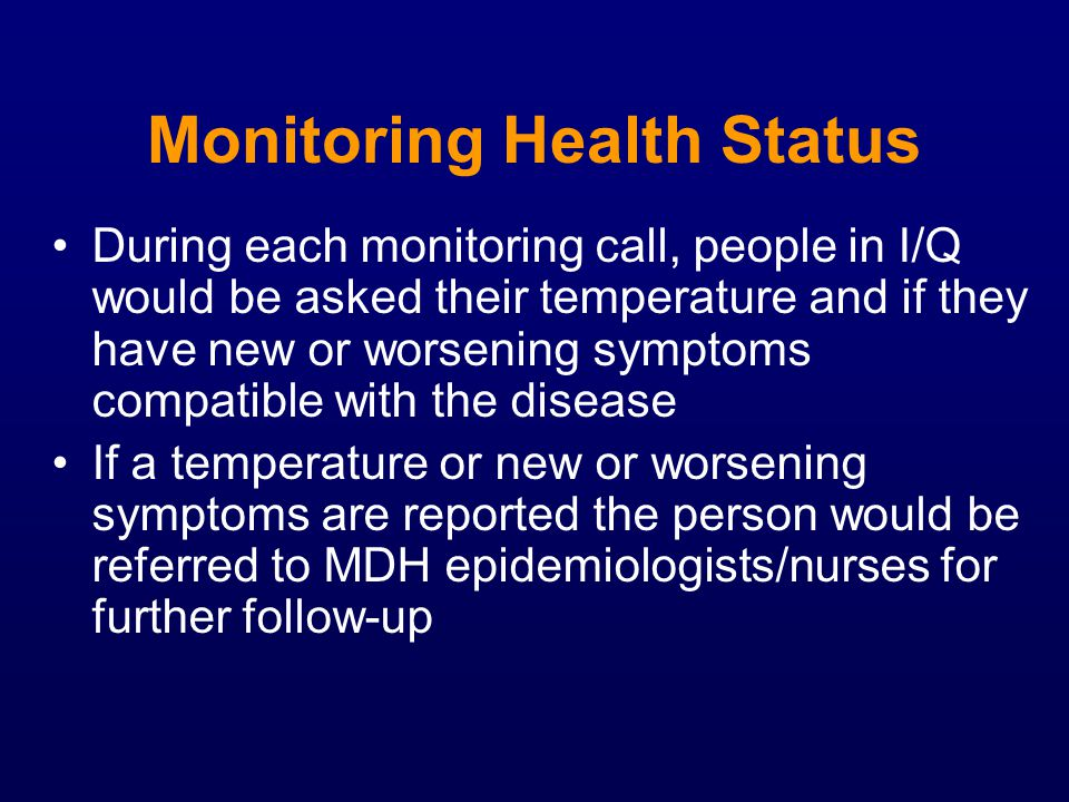 Monitoring Health Status