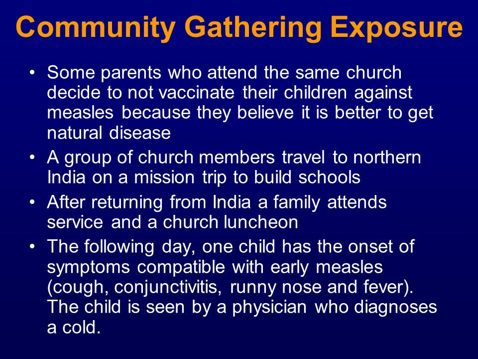 Community Gathering Exposure