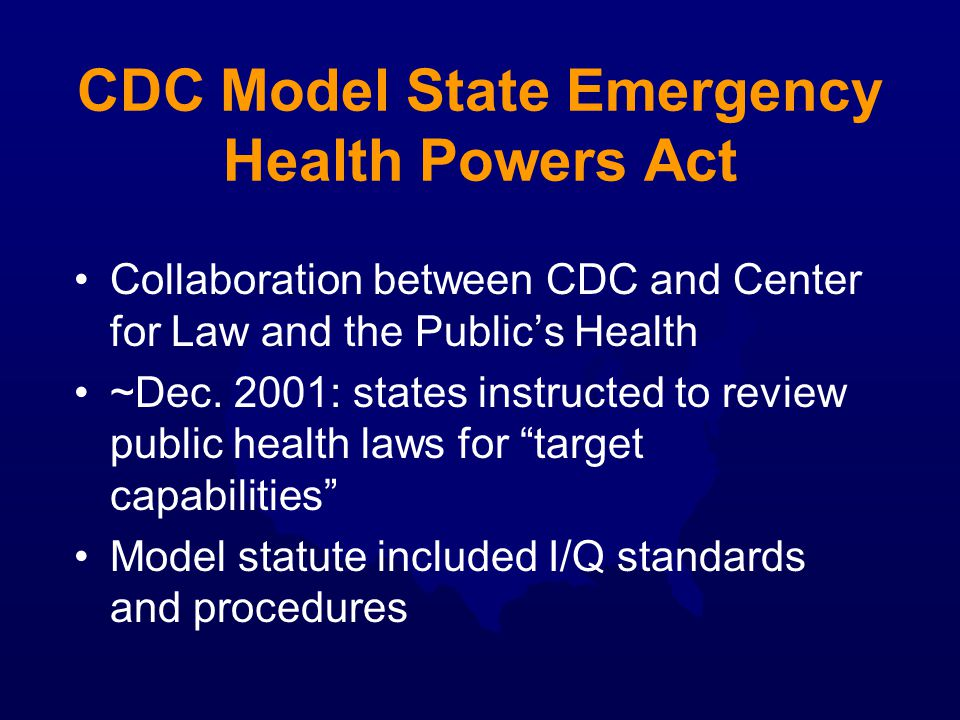 CDC Model State Emergency Health Powers Act