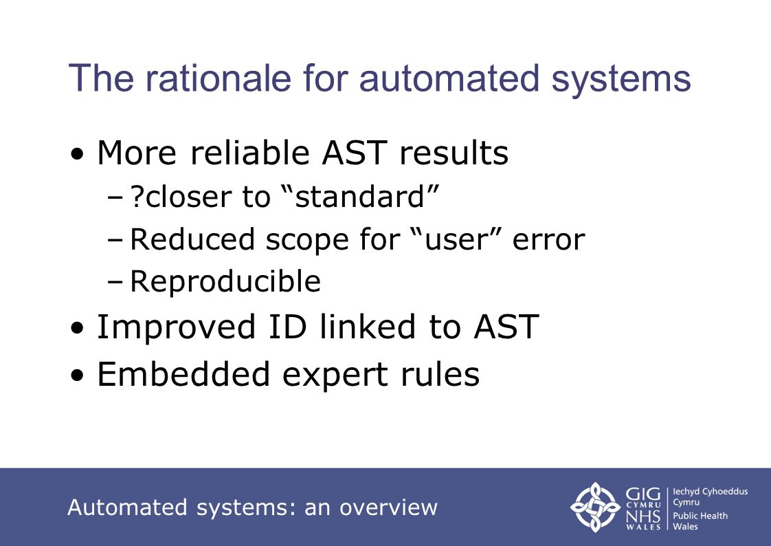 The rationale for automated systems