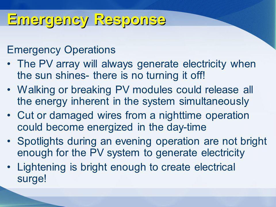 Emergency Response Emergency Operations