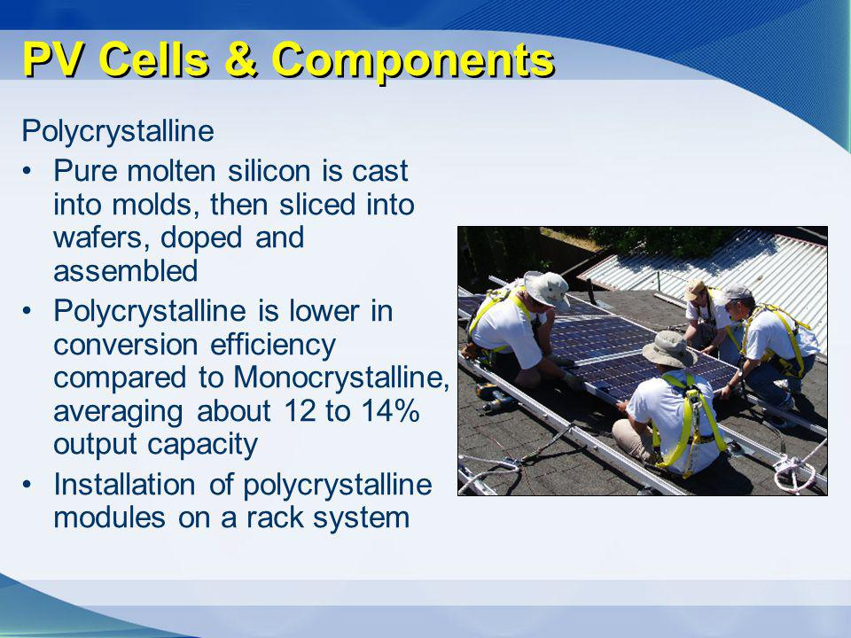 PV Cells & Components Polycrystalline
