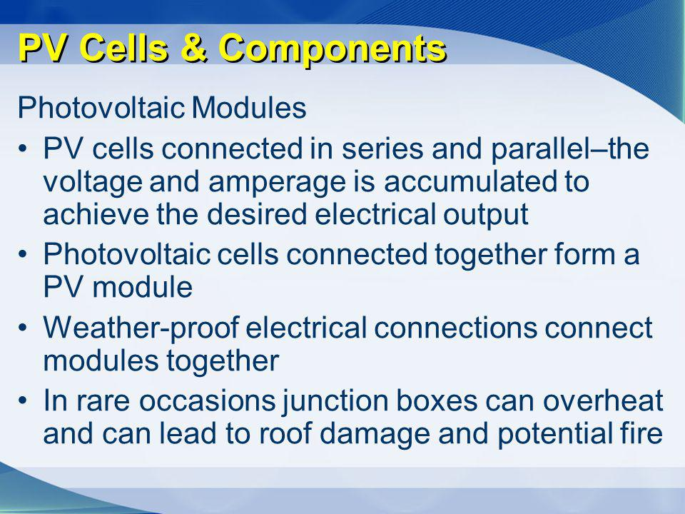 PV Cells & Components Photovoltaic Modules