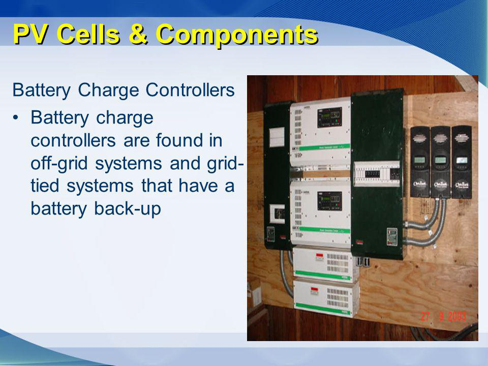 PV Cells & Components Battery Charge Controllers