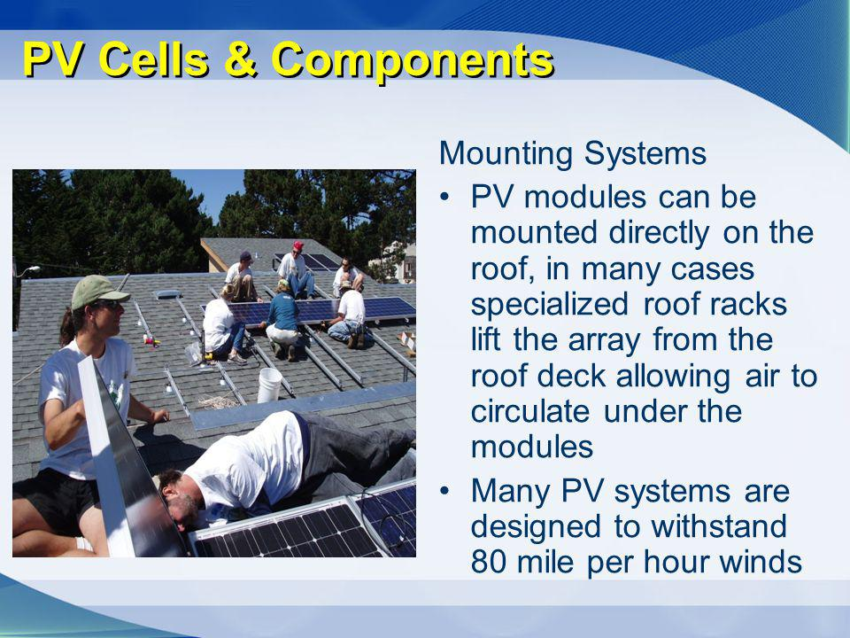 PV Cells & Components Mounting Systems