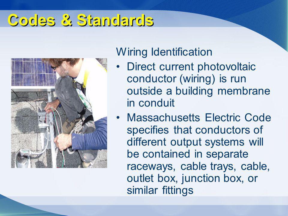 Codes & Standards Wiring Identification