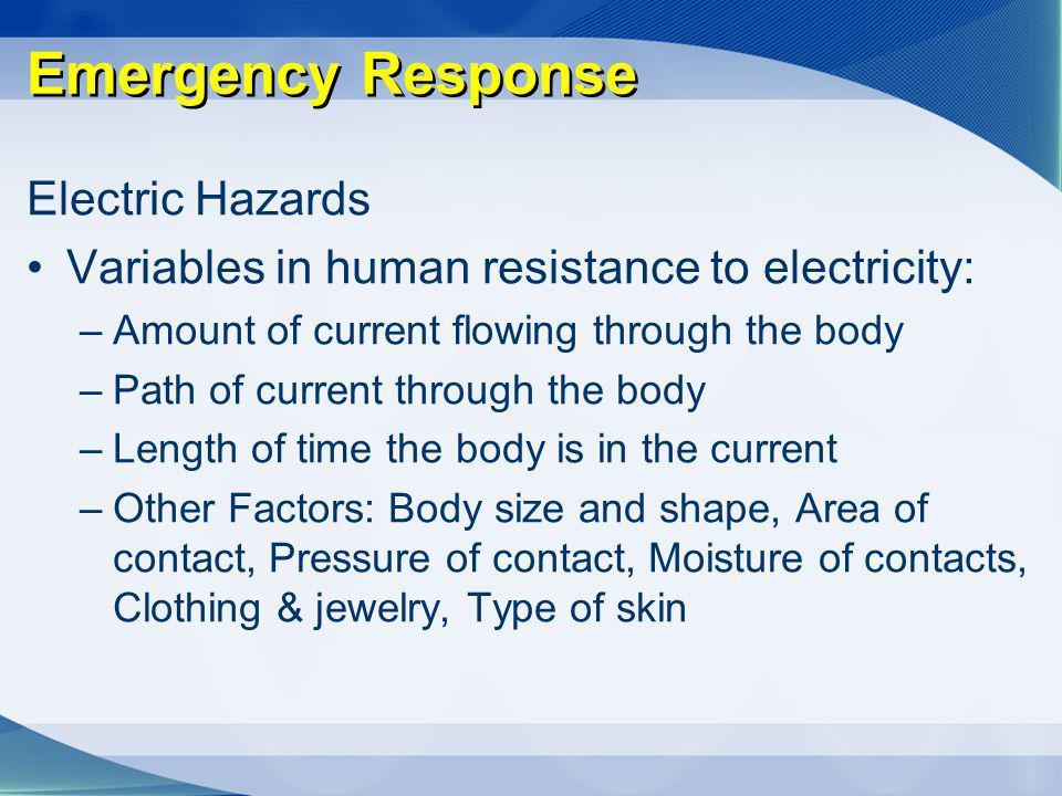 Emergency Response Electric Hazards
