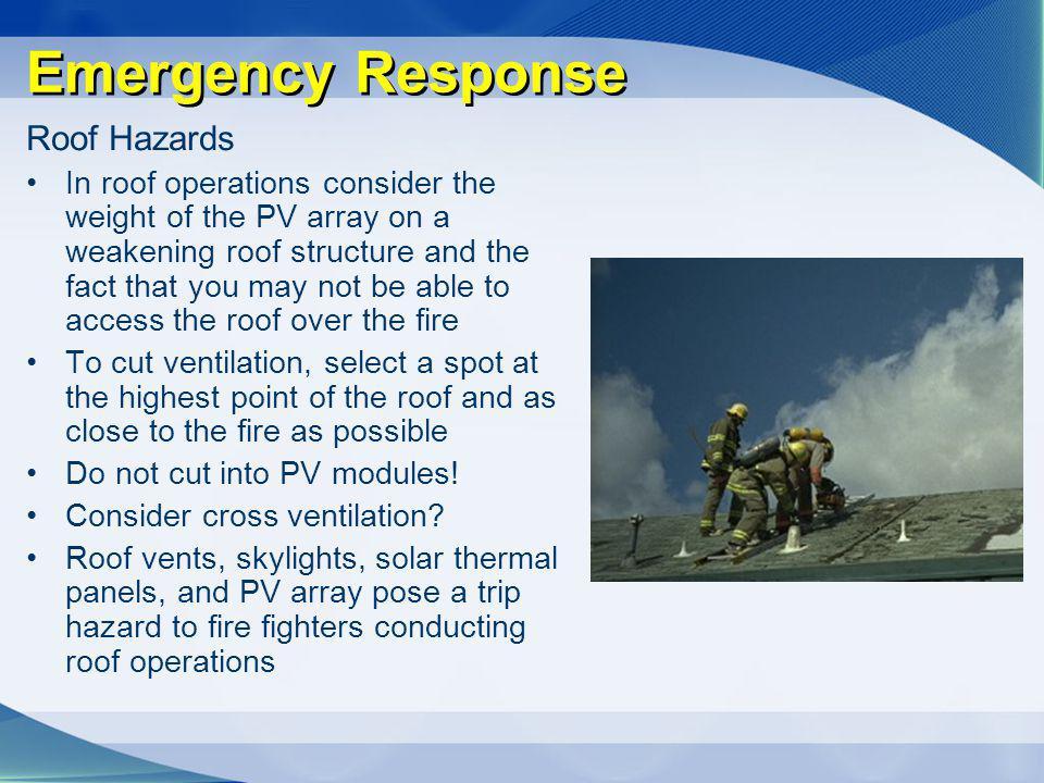 Emergency Response Roof Hazards
