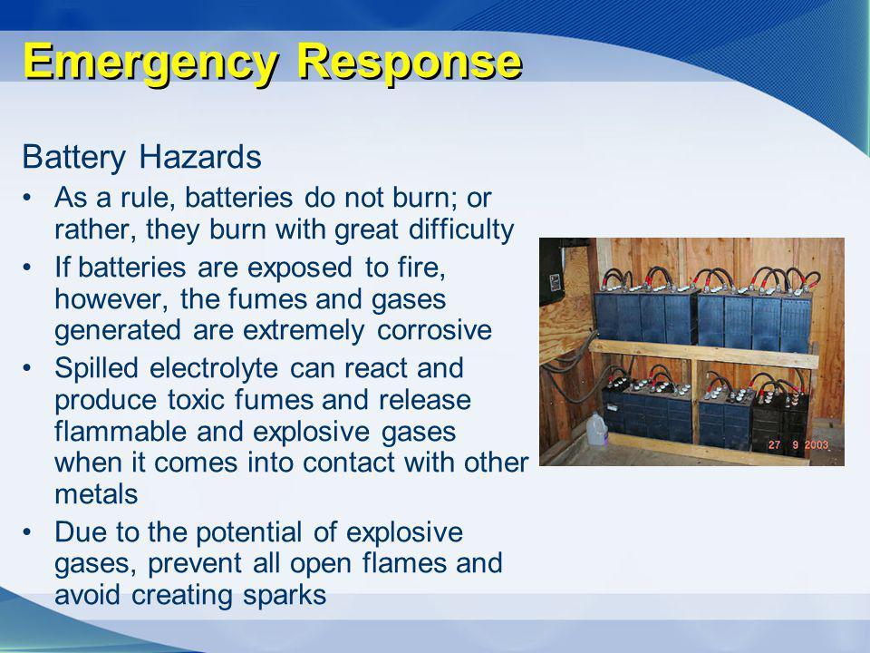 Emergency Response Battery Hazards